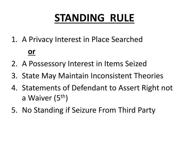 STANDING  RULE
