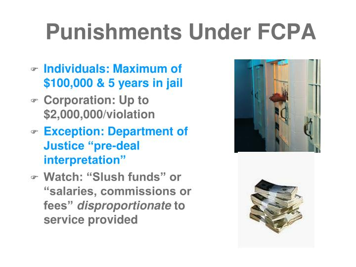 Punishments Under FCPA