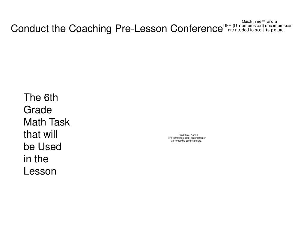 Conduct the Coaching Pre-Lesson Conference