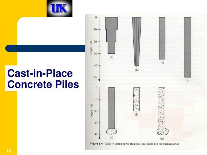 Cast-in-Place Concrete Piles