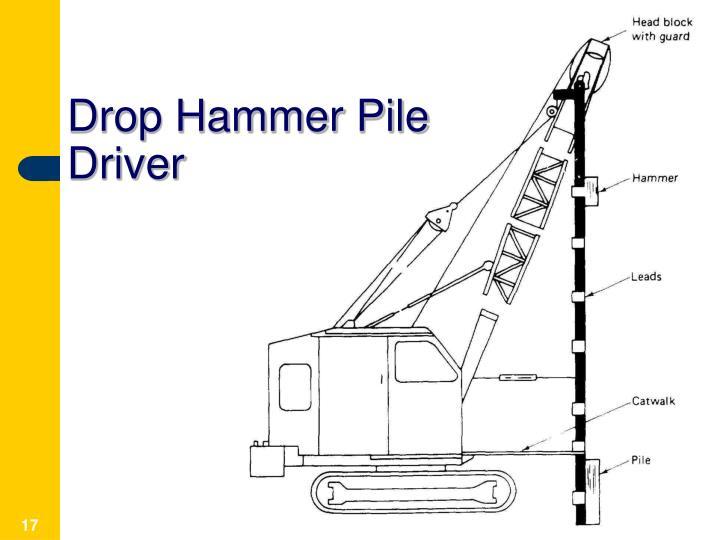 Drop Hammer Pile Driver