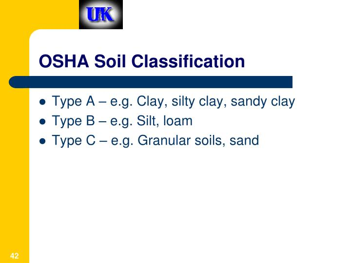 OSHA Soil Classification