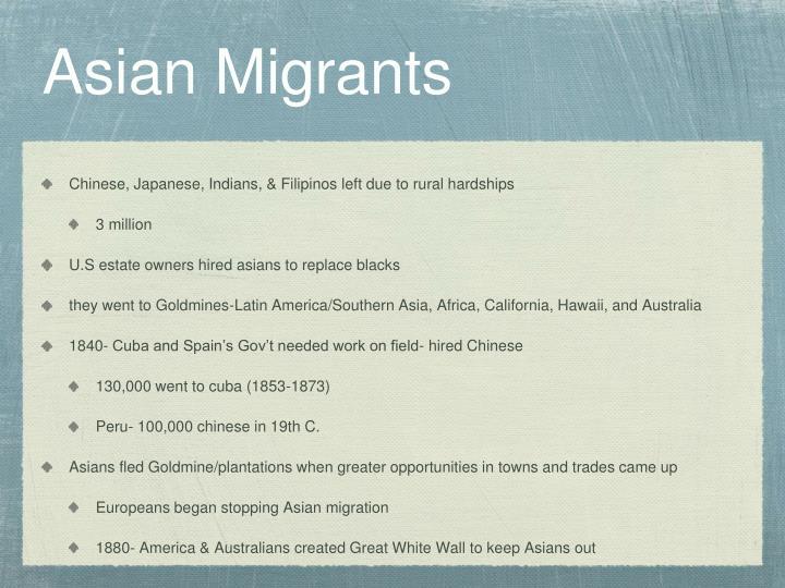 Asian Migrants
