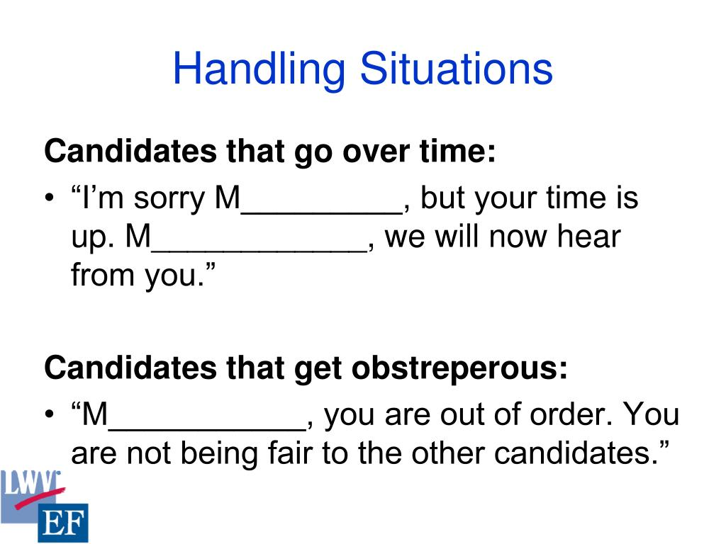 Handling Situations