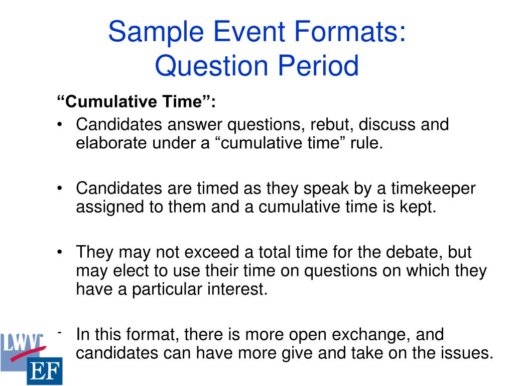 Sample Event Formats: