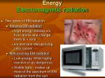energy electromagnetic radiation