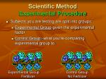 scientific method experimental procedure1