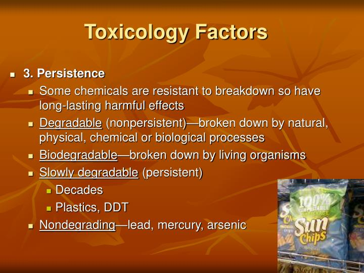 Toxicology Factors