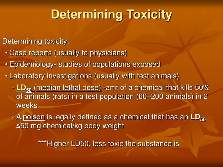 Determining Toxicity