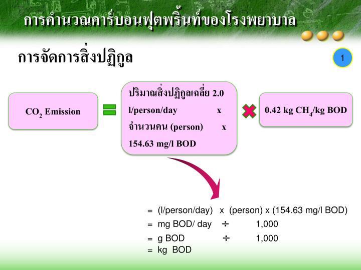 การคำนวณคาร์บอน