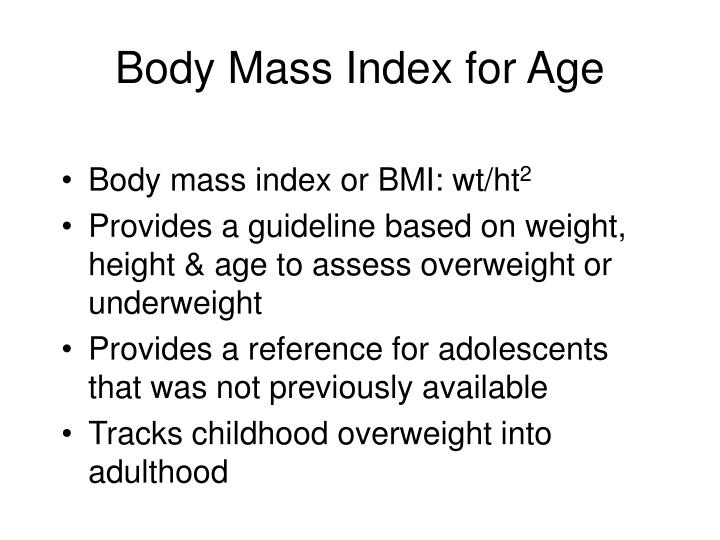 Body Mass Index for Age