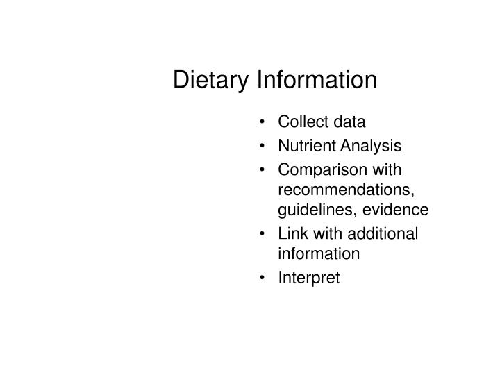 Dietary Information