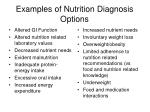 examples of nutrition diagnosis options