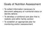 goals of nutrition assessment