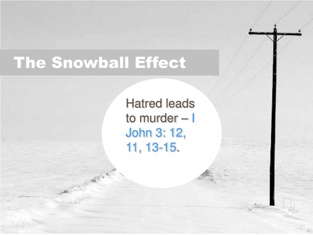 Hatred leads to murder –