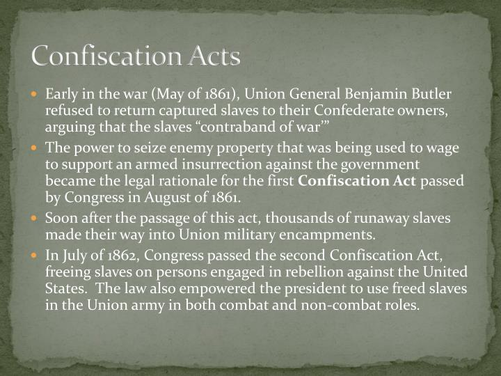 Confiscation Acts