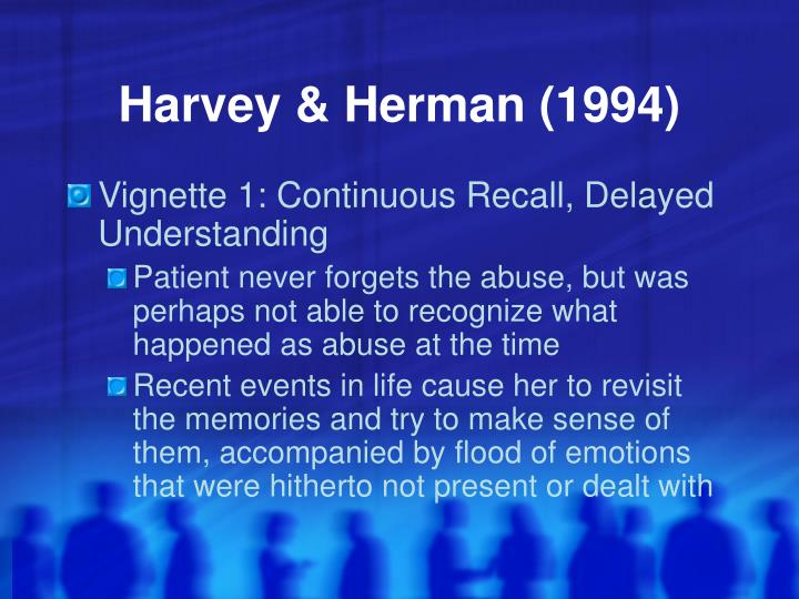Harvey & Herman (1994)