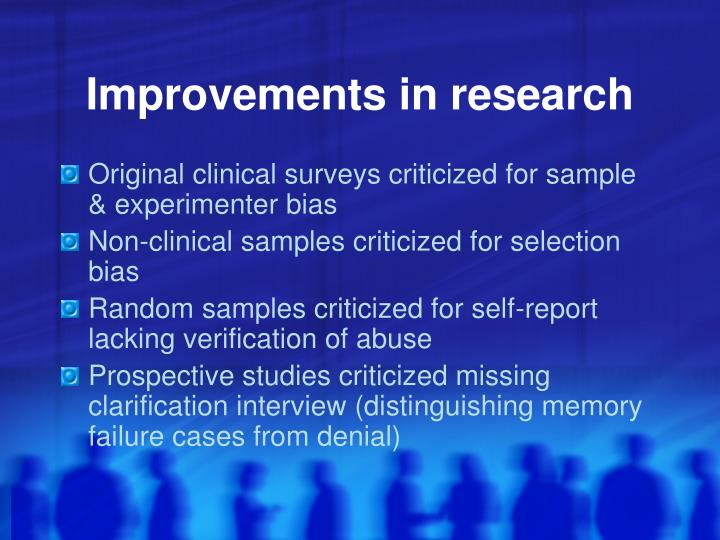 Improvements in research