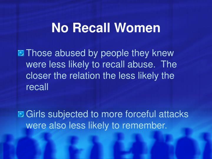 No Recall Women