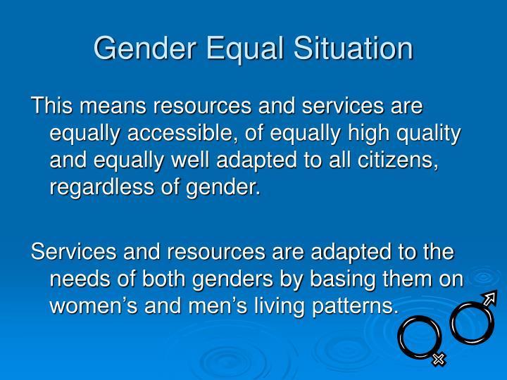 Gender Equal Situation