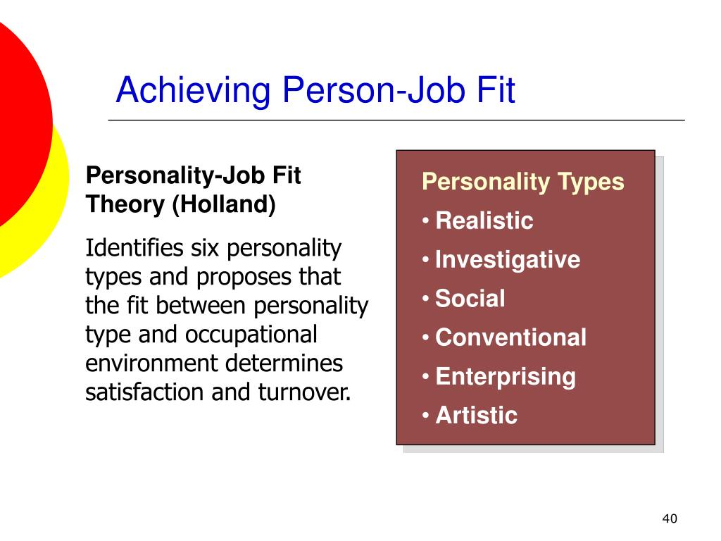 Achieving Person-Job Fit