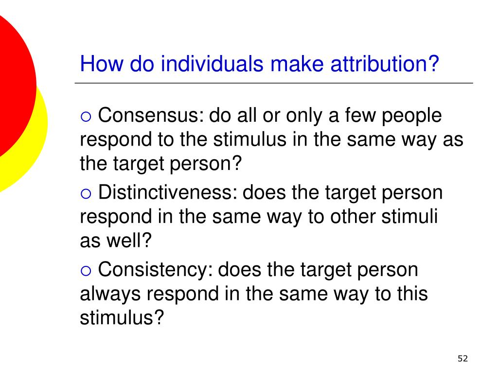 How do individuals make attribution?