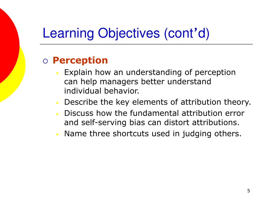 Learning Objectives (cont