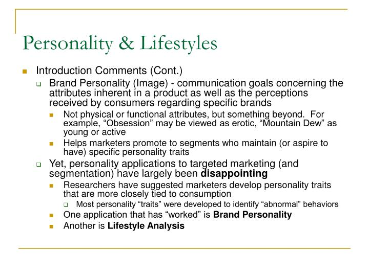 Personality lifestyles1