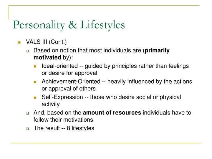 Personality & Lifestyles