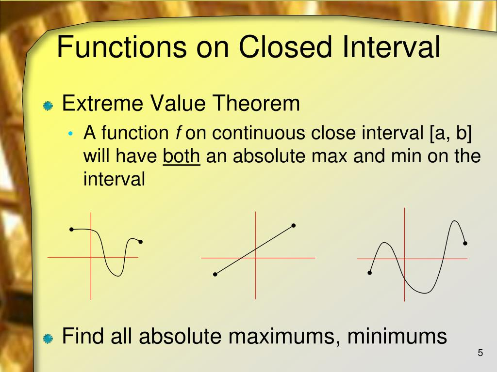 Functions on Closed Interval