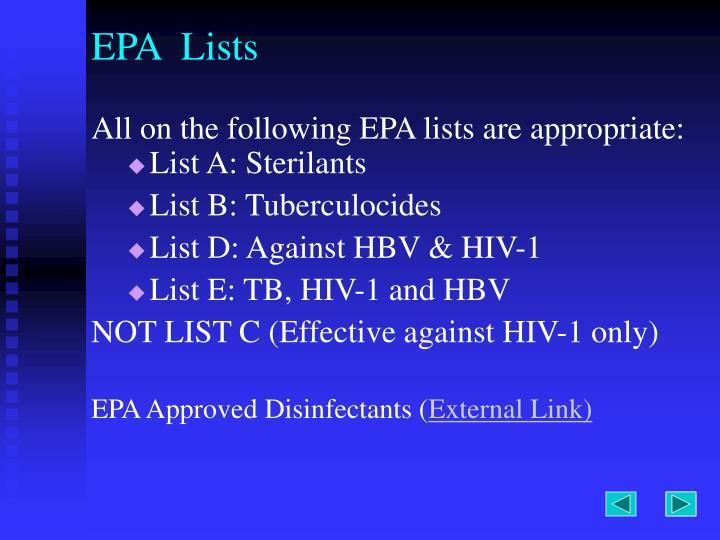 EPA  Lists