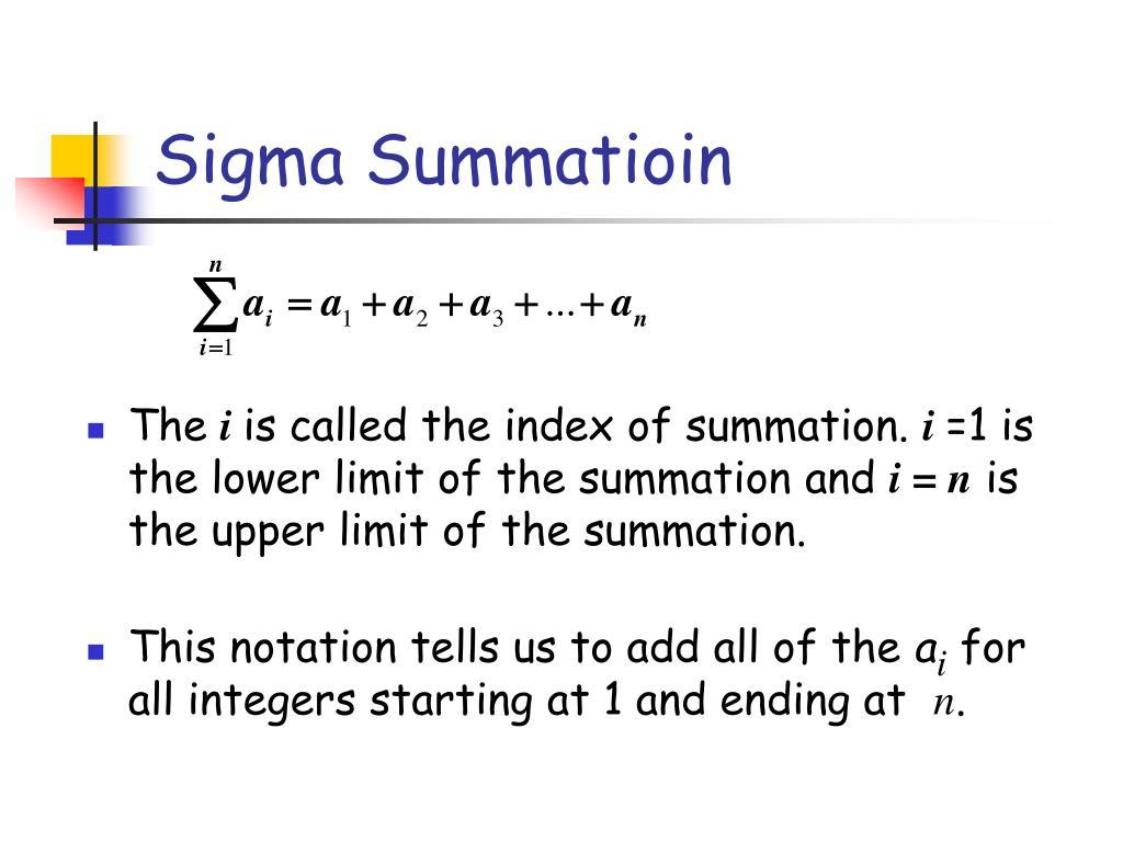 Sigma Summatioin