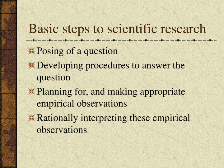 Basic steps to scientific research