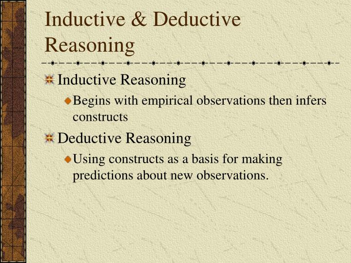 Inductive & Deductive Reasoning