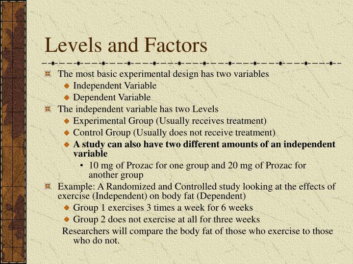 Levels and Factors