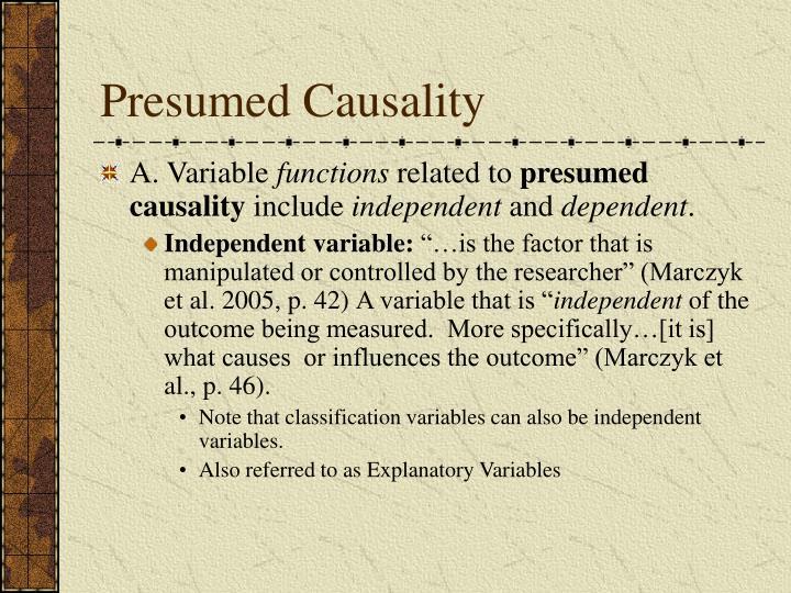 Presumed Causality