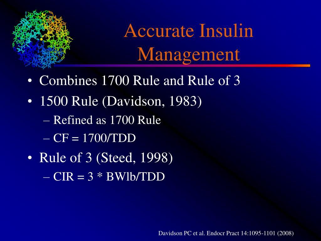 Accurate Insulin Management