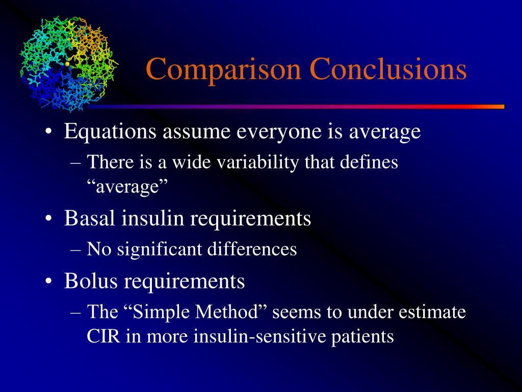 Comparison Conclusions