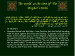 the world at the time of the prophet s birth3