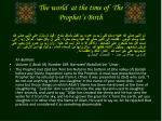 the world at the time of the prophet s birth4