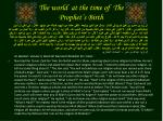 the world at the time of the prophet s birth5