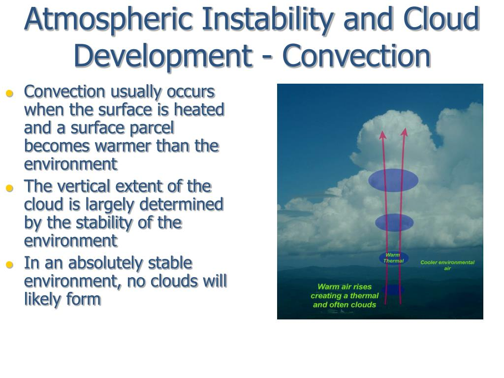 Atmospheric Instability and Cloud Development - Convection