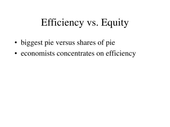Efficiency vs. Equity