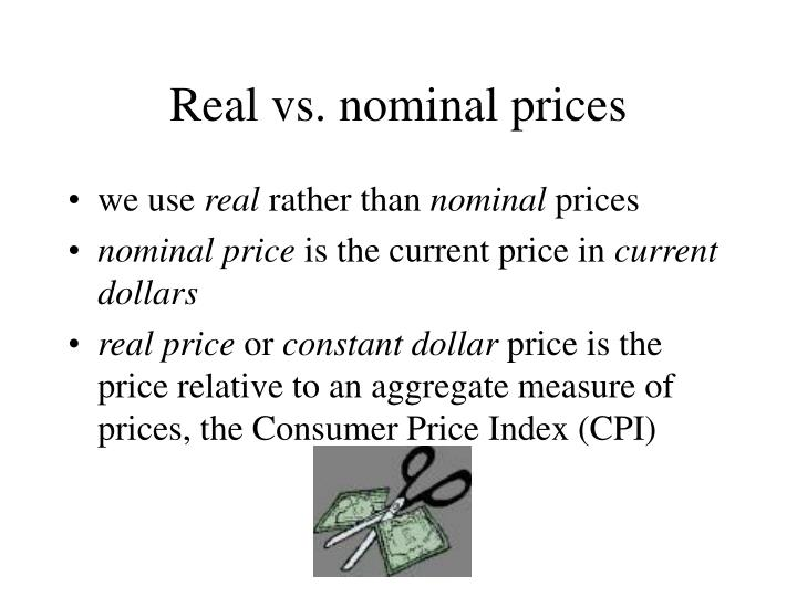 Real vs. nominal prices