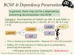 bcnf dependency preservation