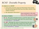 bcnf desirable property