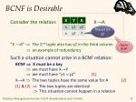 bcnf is desirable