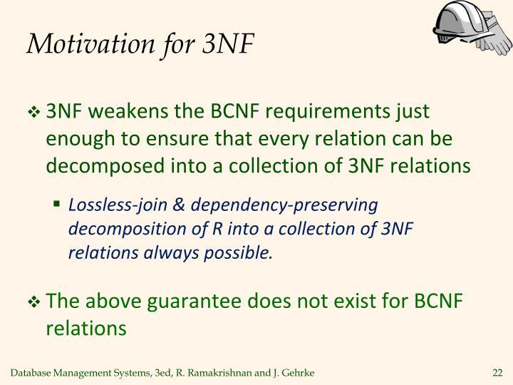 Motivation for 3NF