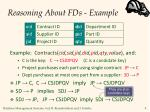 reasoning about fds example