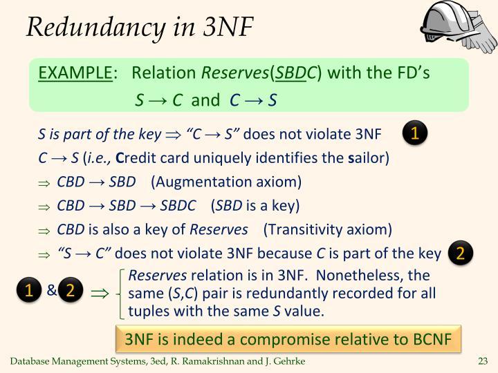 Redundancy in 3NF